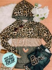 Cheetah & Shimmer Hoodie