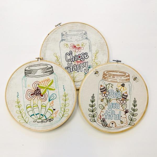 Flower garden mason jar combo