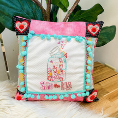 Share the Love Pillow with threads