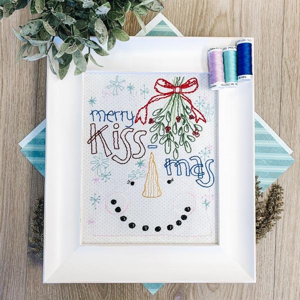 Merry Kissmass Stitch Pattern with thread