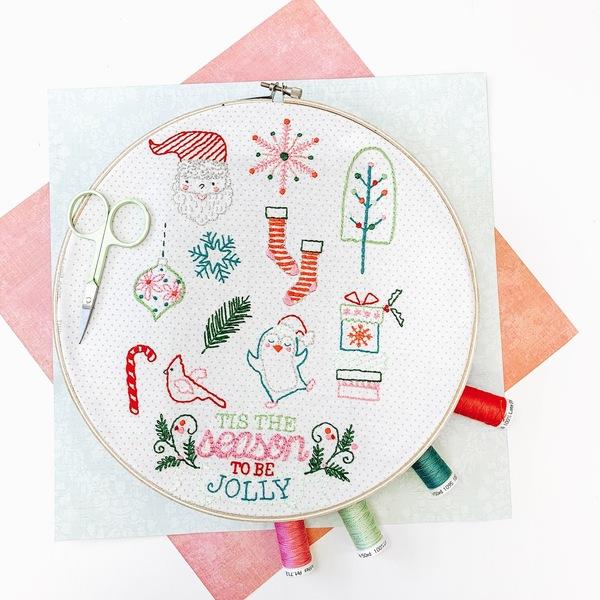 Tis the Season Stitch Pattern with thread