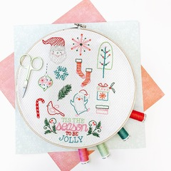 Tis the Season Stitch Pattern with thread