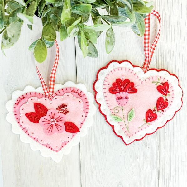 Valentine Felt Ornaments