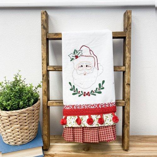 Tea towel display ladder