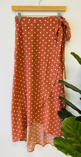 Rust Portland Wrap Skirt