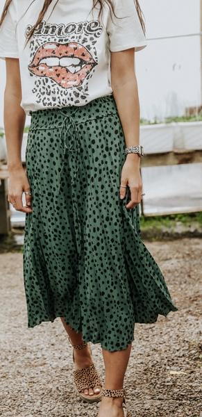 Green Leopard Skirt