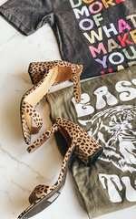 Speckled Kitten Heel
