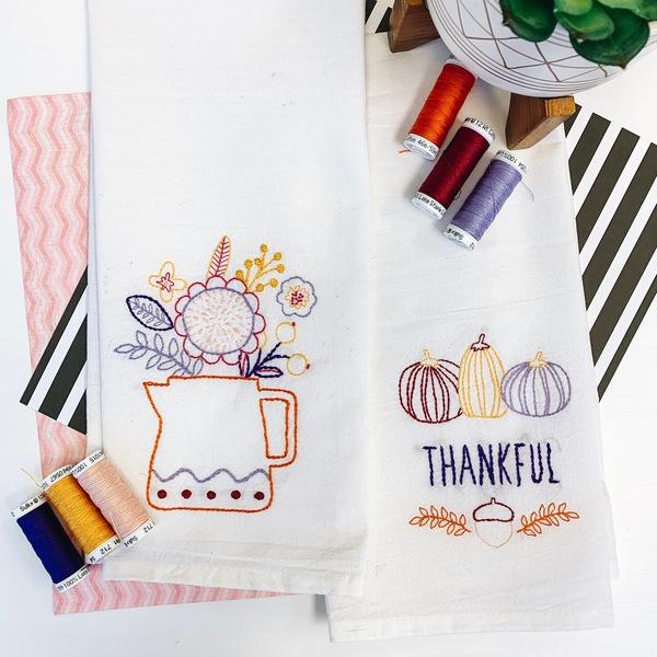 Thankful tea towel set