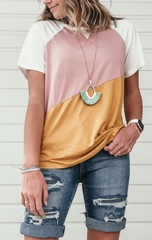 Summer colorblock tee