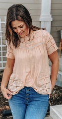 Peach Ivie Blouse