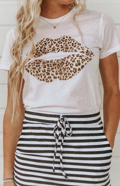 Cheetah Lips Tee