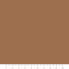 Tiny Check Brown_Fabric