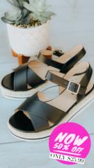 Black Weave Sandals
