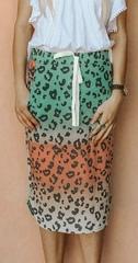 Cheetah Tie Dye Skirt