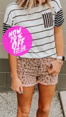 Blush Cheetah Shorts