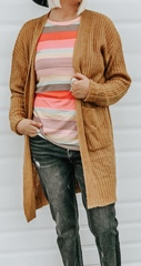Mustard cable knit