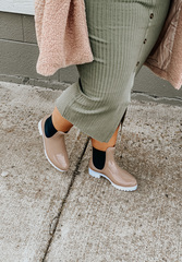 Nude Chelsea Boot