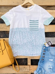 Mint Spring Mix Pocket Top