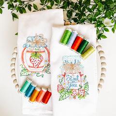 Strawberry Tea Towel Set