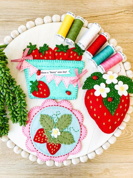 Strawberry Felt project- set of 3