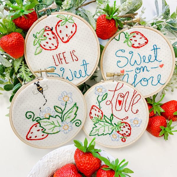 Strawberry Patches Stitch Pattern