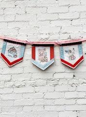 Strawberry Stitch Banner
