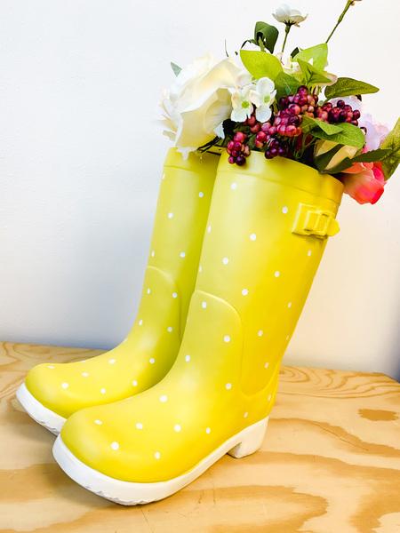 Yellow Rainboot Planter
