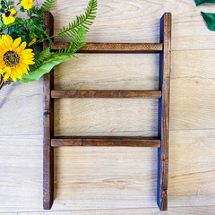 Tea towel ladder display