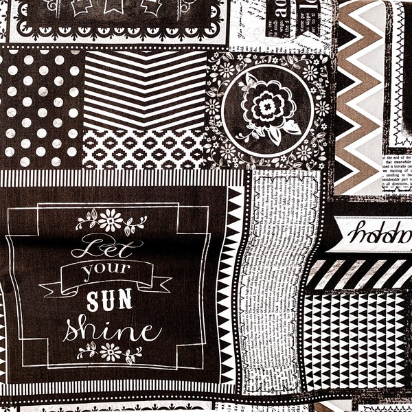 Fabric-You and Me Quotes