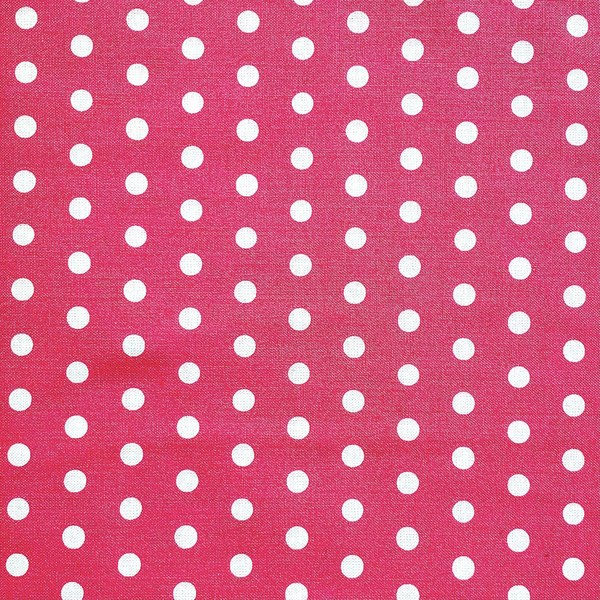 Fabric- Simple Dots Hot Pink