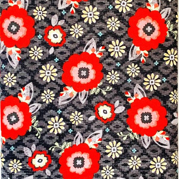 Fabric- You & Me Blossom Black
