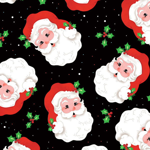 Here Comes Santa Black