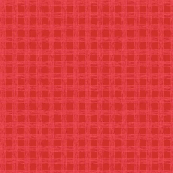 Lined Gingham Red