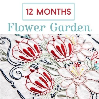 Flower Garden 12 Month Stitch Subscription