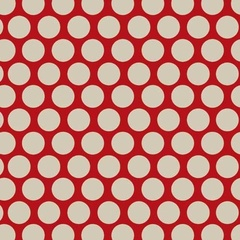 Vintage Polka Dot Red