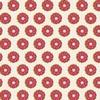 00051 jumbo vintage flower red
