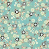 00579 patched flowers turquoise6inch