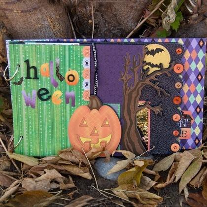 Halloween Wood Story Book