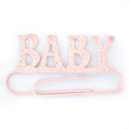 BABY GIRL JUMBO PAPER CLIP