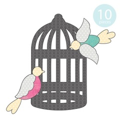 Bird Cage Applique