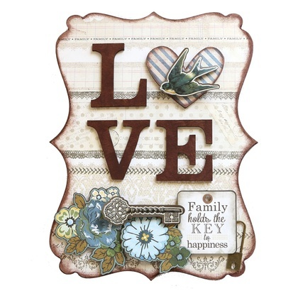 Love Word Plaque KIT
