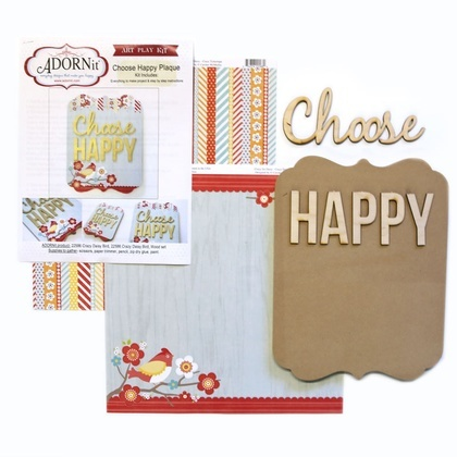 Choose Happy Word Plaque KIT