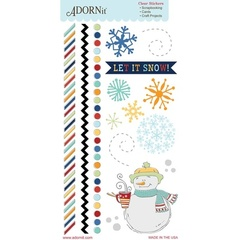 Let It Snow Clear Sticker