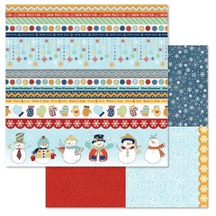 Snowman Tickertape 12x12