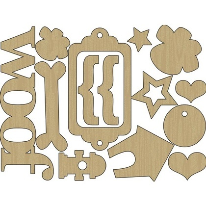 Woof Wood Shapes