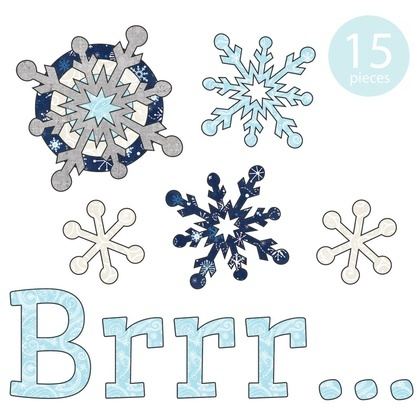 Brrr... Snowflakes Applique