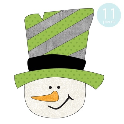 Snowman Top Hat Applique