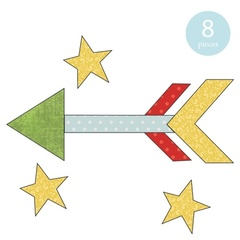 Arrow & Stars Applique