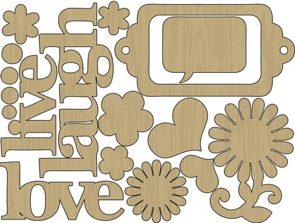 Wood Shapes - Live, Laugh, Love