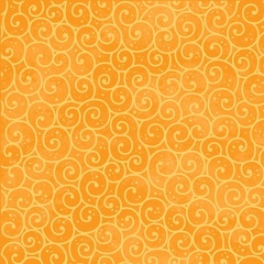 Fabric - Winter Swirl Orange